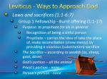 leviticus ways to approach god1