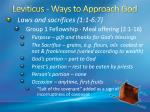 leviticus ways to approach god3