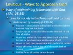leviticus ways to approach god49