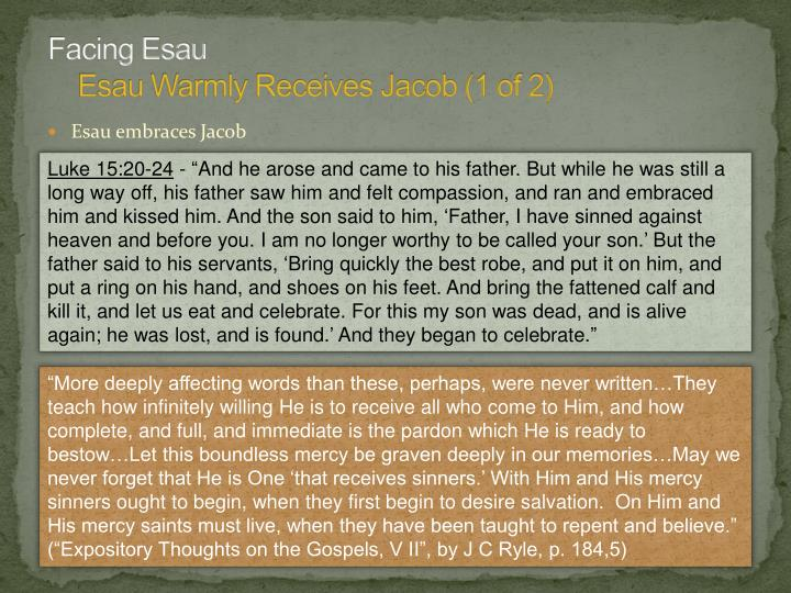 Facing Esau
