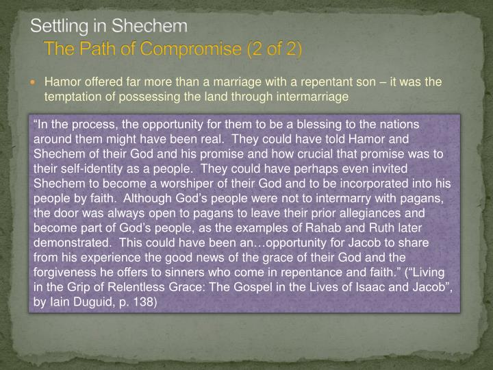 Settling in Shechem
