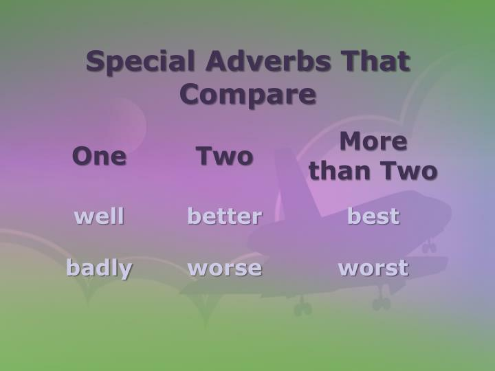 Special Adverbs That Compare