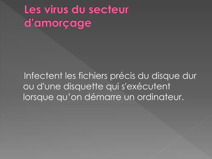 Les virus du secteur d'amorçage