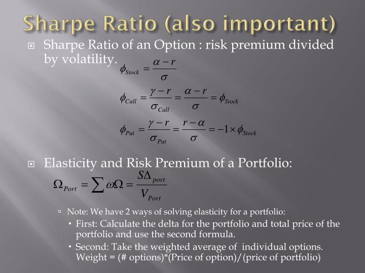 Sharpe Ratio (also important)