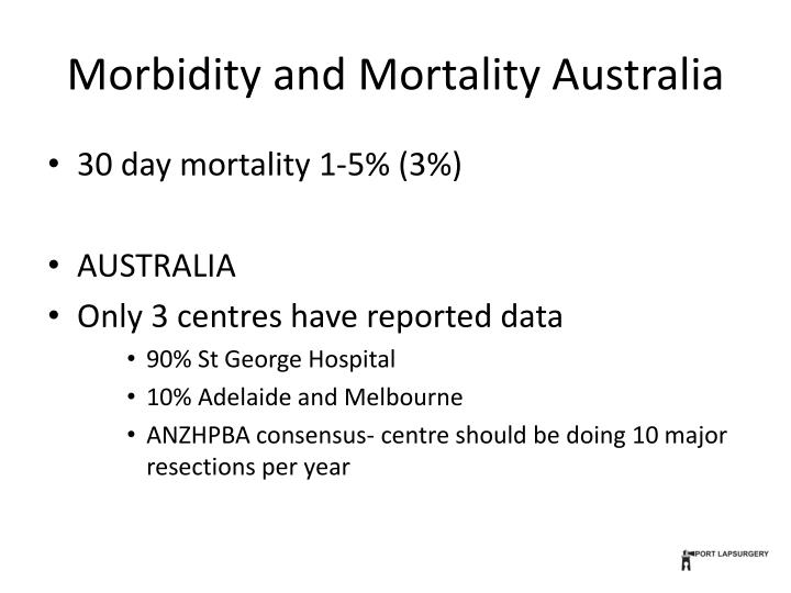 Morbidity and Mortality Australia