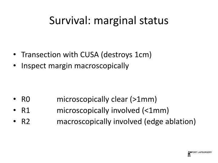 Survival: marginal status