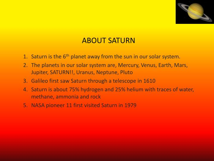 About saturn