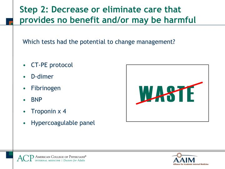 Which tests had the potential to change management?