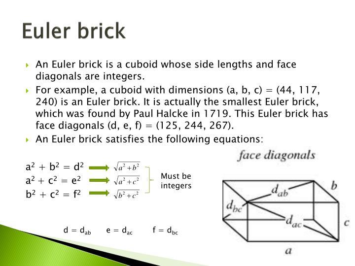 Euler brick