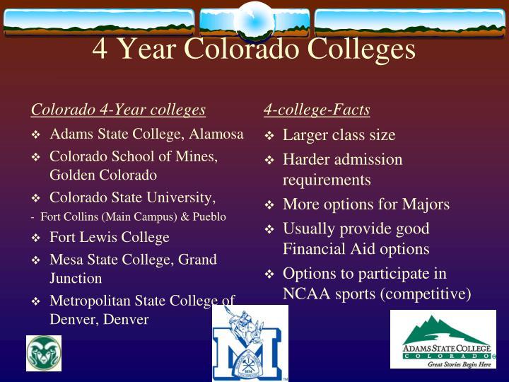 4 Year Colorado Colleges