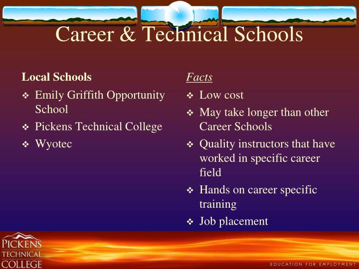 Career & Technical Schools