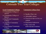 colorado two year colleges