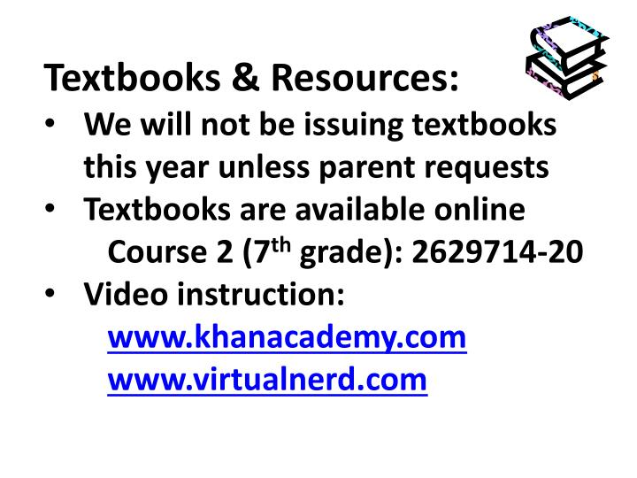 Textbooks & Resources: