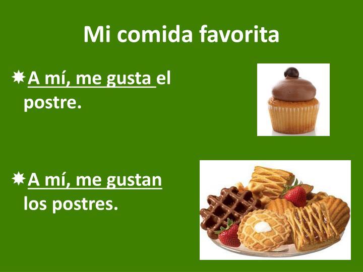 Mi comida