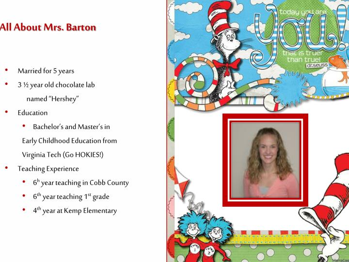 All about mrs barton