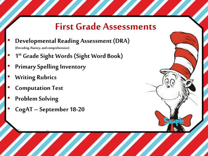 First Grade Assessments