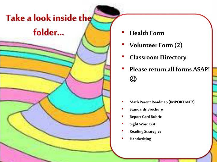 Take a look inside the folder…
