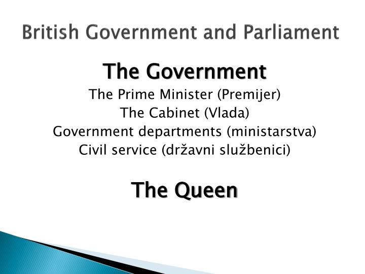 British Government and Parliament