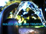 major laws and treaties