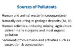 sources of pollutants