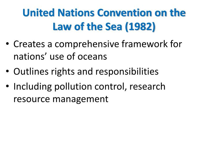United Nations Convention on the Law of the Sea (1982)