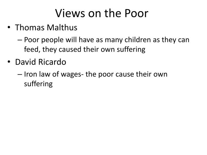 Views on the Poor