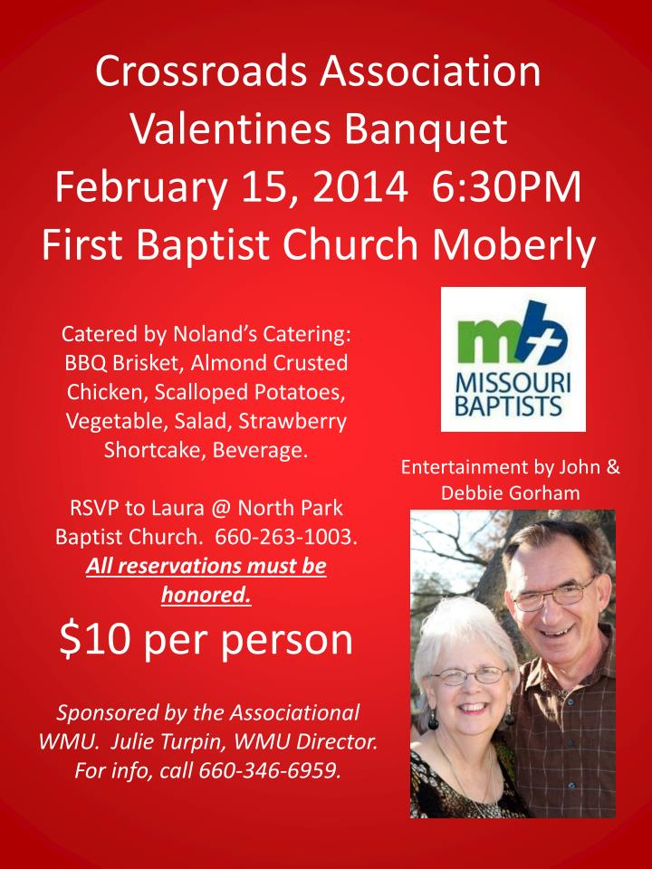 Crossroads Association  Valentines Banquet