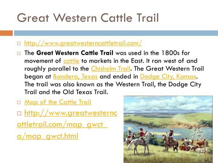 Great Western Cattle Trail