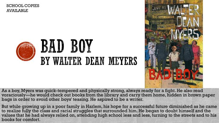 Bad boy by walter dean meyers