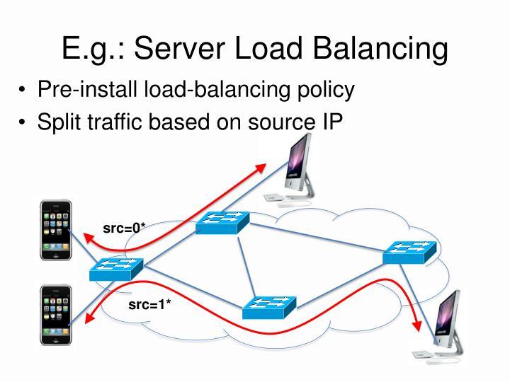 E.g.: Server Load Balancing