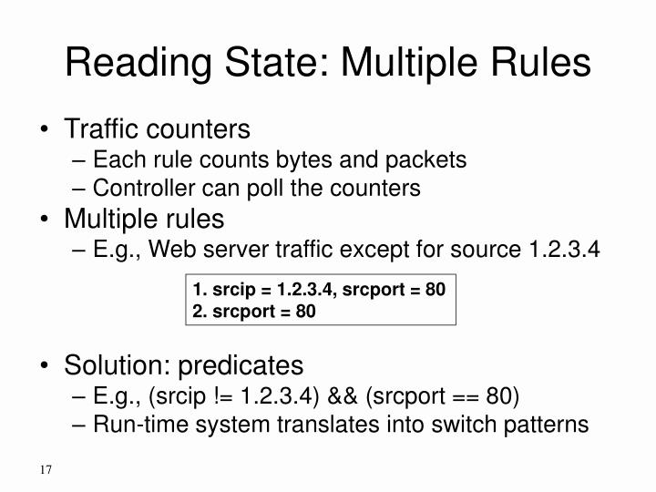 Reading State: Multiple Rules