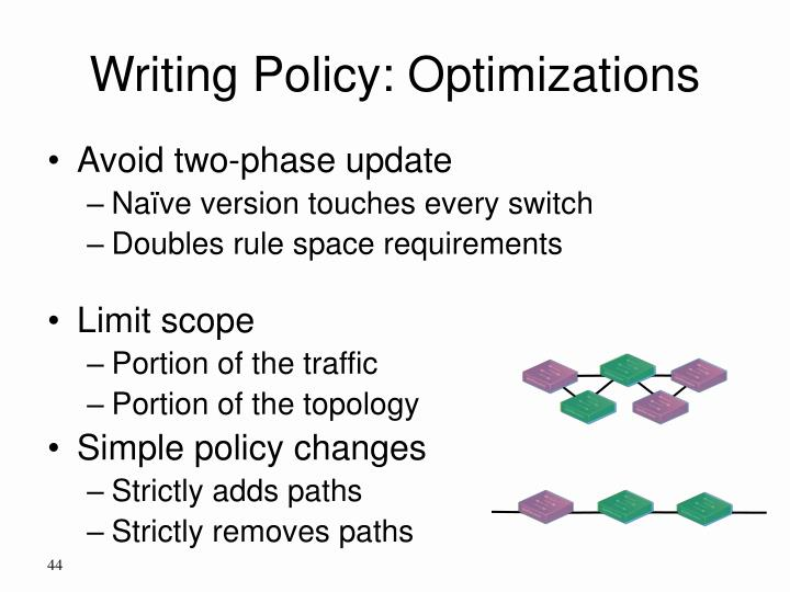 Writing Policy: Optimizations