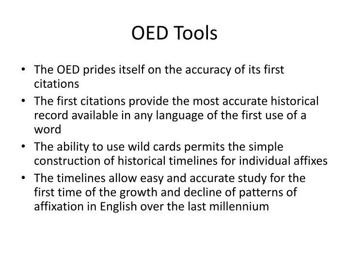 OED Tools