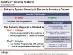 dataflash security features unique device id