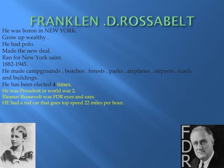 FRANKLEN .D.ROSSABELT