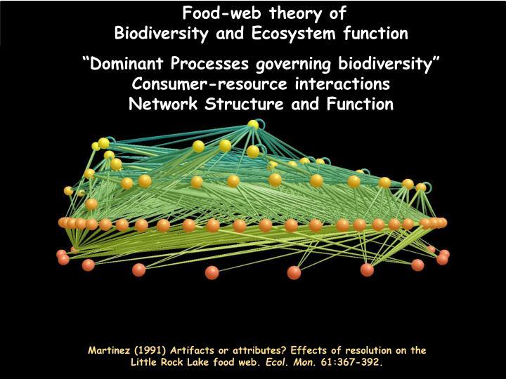Food-web theory of