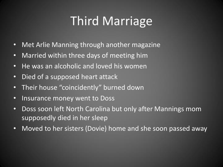 Third Marriage