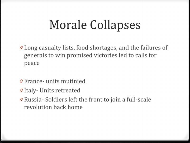 Morale Collapses