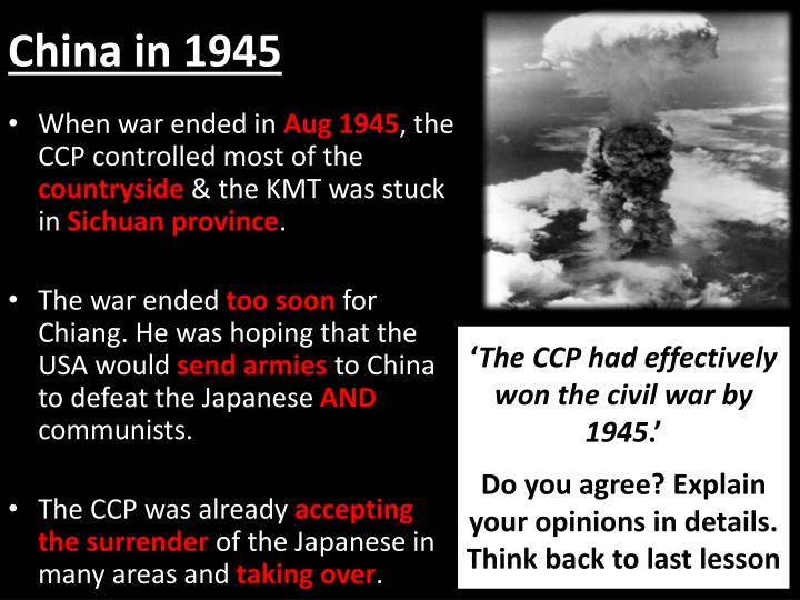 why did the ccp win the Why did a communist revolution happen in china - part ii v why did the communists win the chinese revolution / civil war a the appeal of marxism.