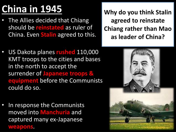 "why did the communists win in 1949 essay And this is why the communists had the chance and did win the civil war on december 20, 1917, after seizing power in russia, vladimir lenin created the cheka, the soviet union's secret police its mission was ""to punish and liquidate all attempts or actions connected with counter-revolution or sabotage, whatever their source, throughout."