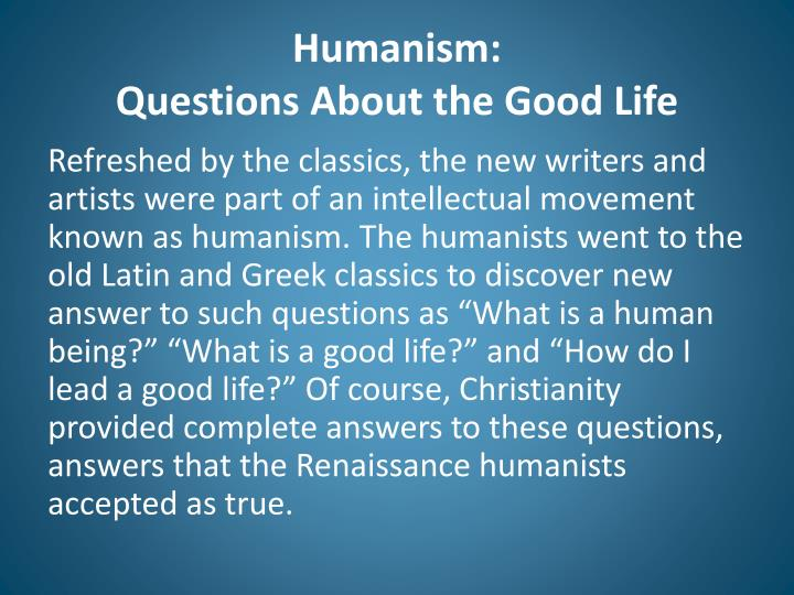 humanism questions Foucault sees in kant's essay `an answer to the question: what is  as a  philosophical thesis anti-humanism questions the values of.