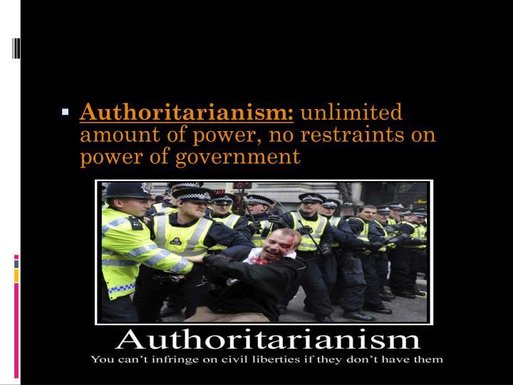 Authoritarianism: