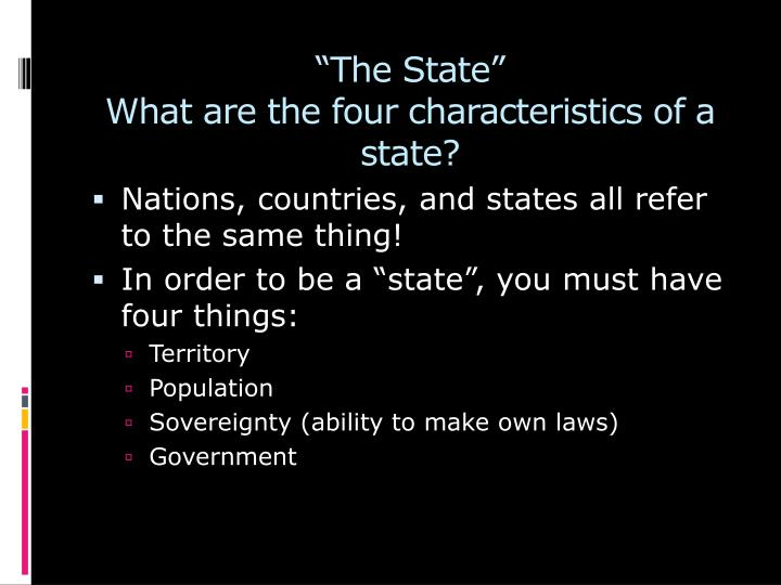 """The State"""