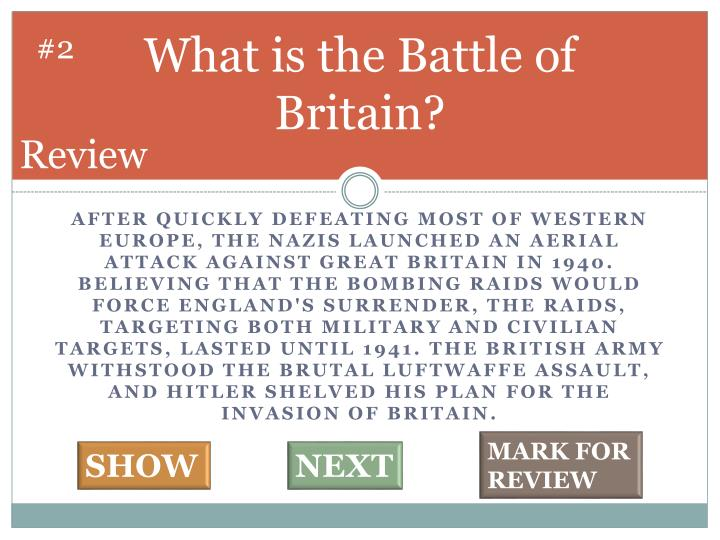 What is the battle of britain