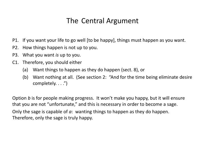 The central argument