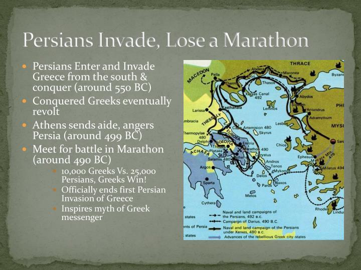 Persians Invade, Lose a Marathon