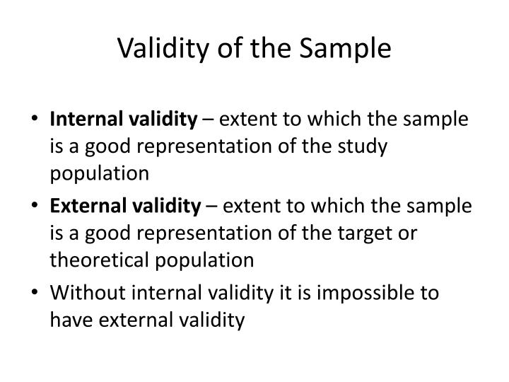 Validity of the Sample