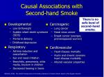 causal associations with second hand smoke