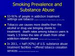 smoking prevalence and substance abuse
