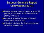 surgeon general s report commission 2014